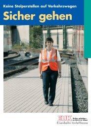 Plakate Verkehrswege - Eisenbahn-Unfallkasse