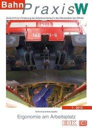 Ergonomie am Arbeitsplatz - Eisenbahn-Unfallkasse