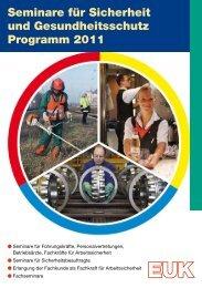 Seminare für Sicherheit und Gesundheitsschutz Programm 2011
