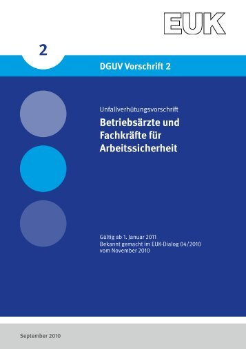 Betriebsärzte und Fachkräfte für Arbeitssicherheit - Eisenbahn ...