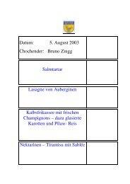Bruno Zingg im August - EULACH-CHUCHI Winterthur