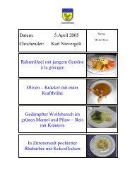 Karl Nievergelt im April - EULACH-CHUCHI Winterthur