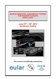 Course programme - EULAR