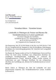 Verstehen lernen Lehrkräfte in Thüringen als Trainer und Berater für ...