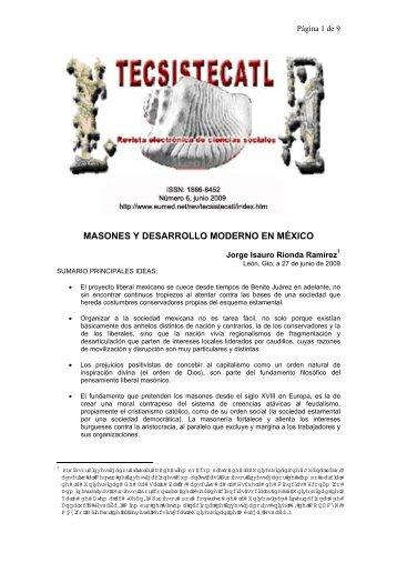 MASONES Y DESARROLLO MODERNO EN MÉXICO - Eumed.net