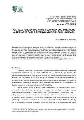 políticas públicas de apoio à economia solidária como ... - Eumed.net