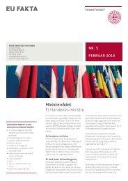EU-landenes ministre - Folketingets EU-oplysning
