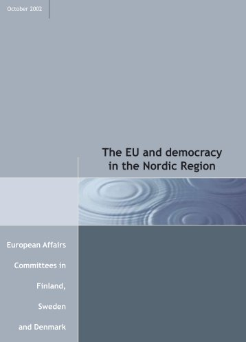 The EU and democracy in the Nordic Region - Folketingets EU ...