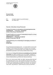 Europaudvalget Peter Juul Larsen Til: Dato: Udvalgets medlemmer ...
