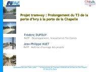 Projet tramway : Prolongement du T3 de la porte d'Ivry à ... - EUPAVE