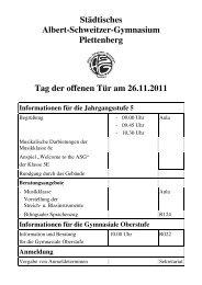 Informationen für die Gymnasiale Oberstufe - Asg-Plettenberg