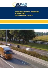concrete safety barriers: a safe and sustainable choice - EUPAVE