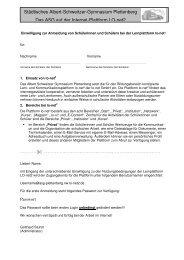 Einwilligung ASG Schüler - Formular 2010 - Asg-Plettenberg