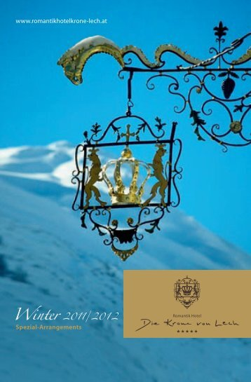 Winter 2011/ 20 1 2 Spezial-Arrangements www.romantikhotelkrone ...