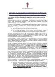 CONDUCTAS SALUDABLES: PREVENCIÓN Y PROMOCIÓN DE ...
