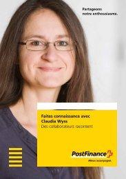 Faites connaissance avec Claudia Wyss - Des collaborateurs ...
