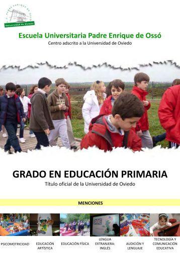 grado en educación primaria - Escuela Universitaria Padre Enrique ...