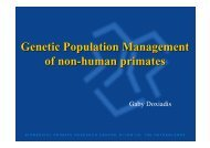 Genetics Population Management - EUPRIM-Net