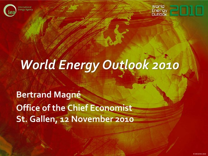 world energy outlook reaction paper