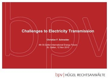 Challenges to Electricity Transmission