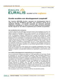 COMMUNIQU DE PRESSE - Euralis