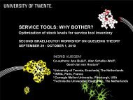 SERVICE TOoLS: WHY BOTHER? - Eurandom