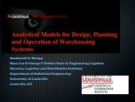 Analytical Models for Design, Planning and Operation of ... - Eurandom