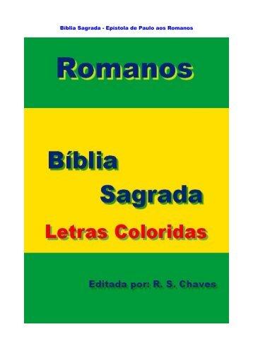 Bíblia Sagrada - Epístola de Paulo aos Romanos