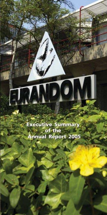 Executive Summary of the Annual Report 2005 - Eurandom ...