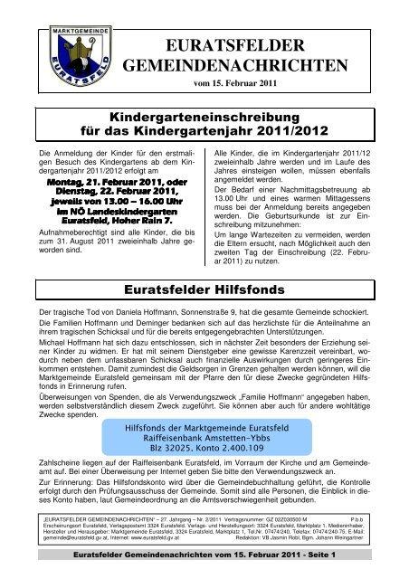 Euratsfelder - Gemeindeserver