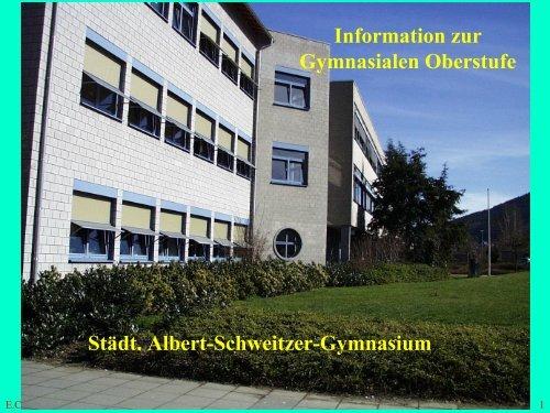 Städt. Albert-Schweitzer-Gymnasium Information ... - Asg-Plettenberg