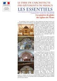 Les poutres de gloire des églises de l'Eure