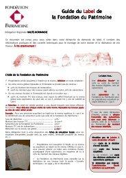 Guide du Label HAUTE-NORMANDIE - Fondation du Patrimoine