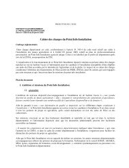 Cahier des charges du Point Info Installation - Préfecture de l'Eure