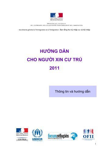 hướng dẫn của người xin tị nạn - Ministère de l'Intérieur