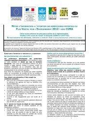 notice d'information al 'attention des bénéficiaires potentiels du plan ...