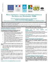 NOTICE D'INFORMATION A L 'ATTENTION DES BÉNÉFICIAIRES ...