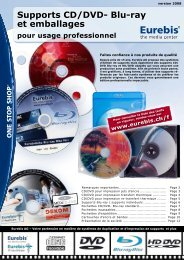 Supports CD/DVD- Blu-ray et emballages - Eurebis AG