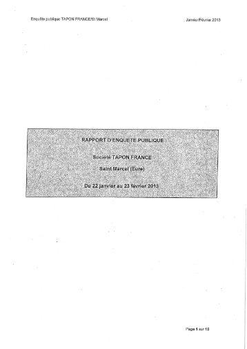 rapport CE - 4,85 Mb - Préfecture de l'Eure