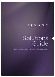 Rimage Solutions Guide - GID - Global Information Distribution GmbH