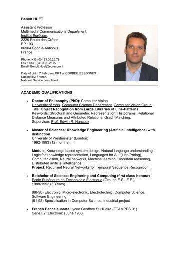 Benoit HUET Assistant Professor Multimedia ... - Eurecom