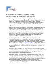 Allgemeine Geschäftsbedingungen für das Nachrichtenportal www ...