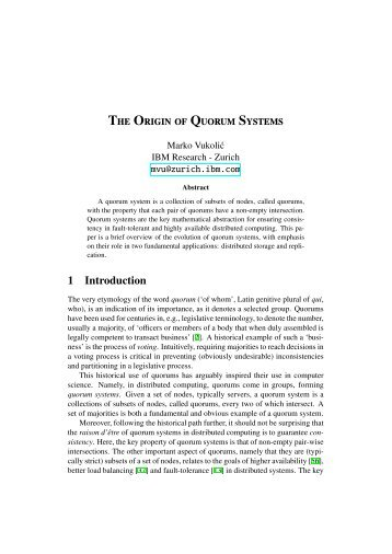 The Origin of Quorum Systems