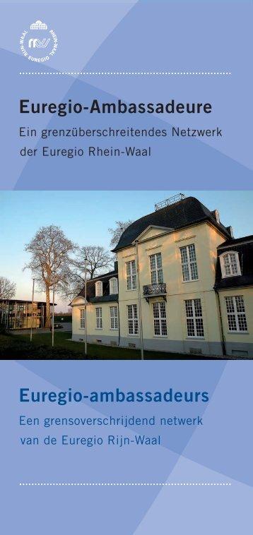 Flyer Euregio-ambassadeurs - bei der Euregio Rhein-Waal