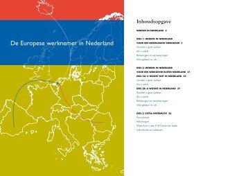 Brochure - De Europese werknemer in Nederland - FNV Bondgenoten