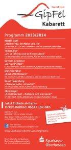 Fresche Keller – Programm für die Spielzeit 2013/14 - Page 7