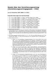 Gesetz über den Versicherungsvertrag ... - Eureka24.de
