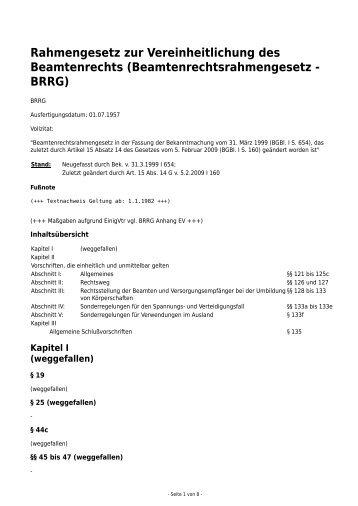 Rahmengesetz zur Vereinheitlichung des ... - Eureka24.de