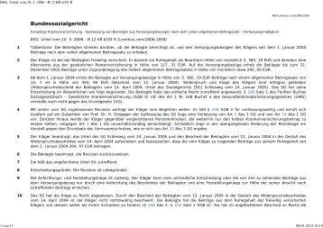 BSG, Urteil vom 10. 5. 2006 - B 12 KR 6/05 R - Eureka24.de