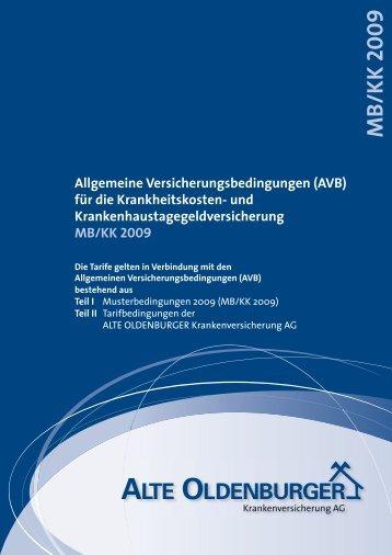 MB/KK 2009 Allgemeine Versicherungsbedingungen - Eureka24.de